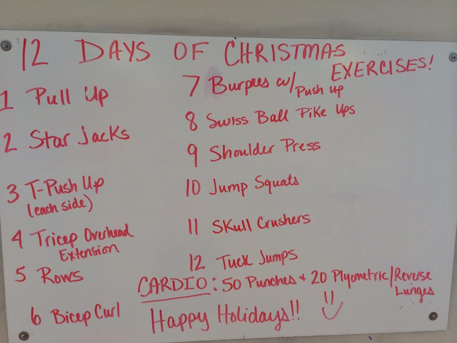 12 Days Of Christmas Crossfit Wod.12 Days Of Christmas Workout Home Workout Transformation